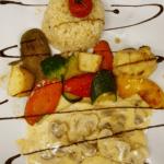 Kalbsschnitzel an Pilzrahmsauce